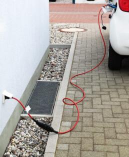 Wagen opladen stopcontact